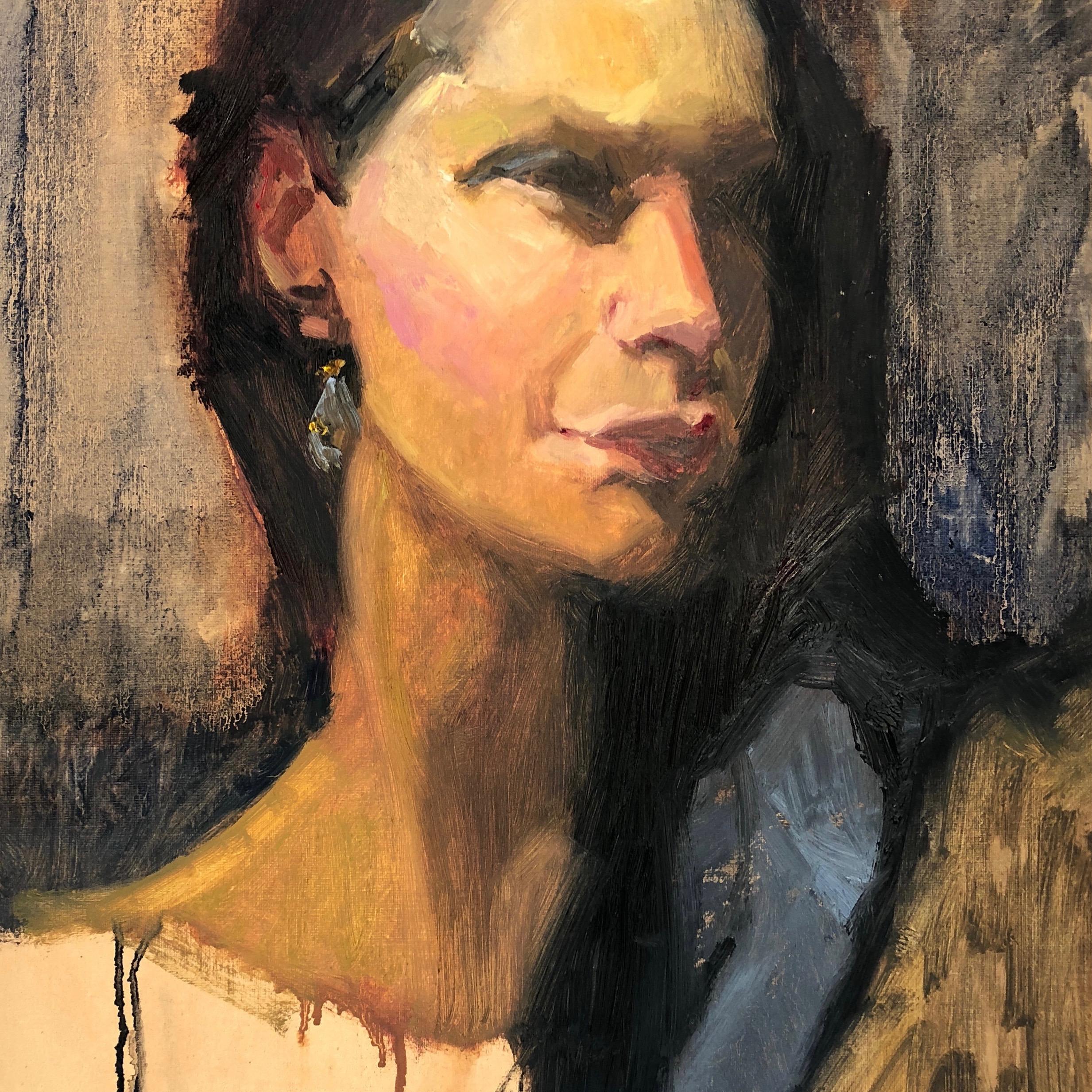 Portrait with a Blue Stole