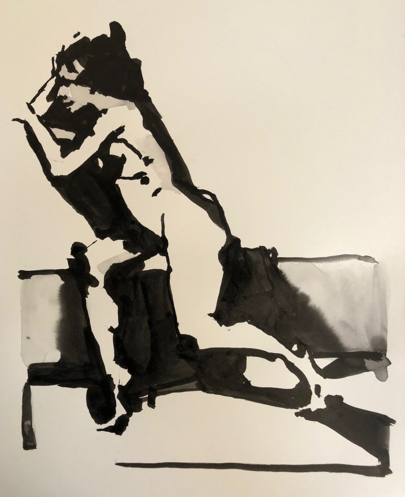 15 x 22, sumi ink on watercolor paper