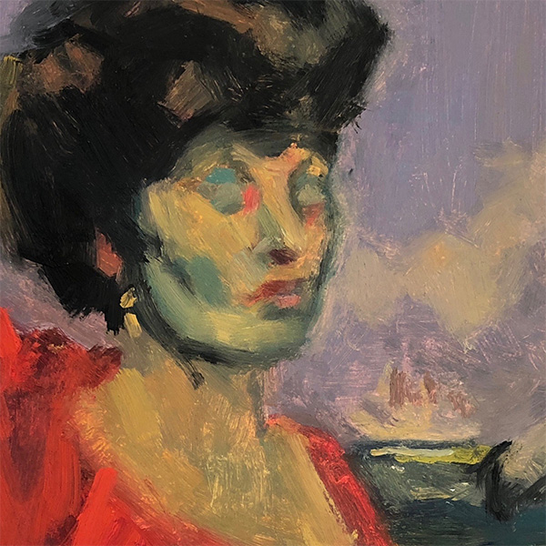Lady in Red, Inspiration Sickert